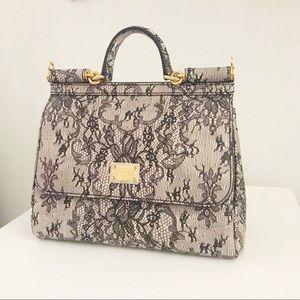 Dolce   Gabbana Bags - D G Miss Sicily Lace-Print Satchel ba60fe301bd89